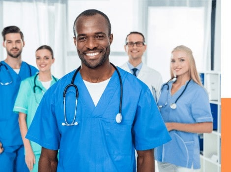 nurses wearing scrub suit nurses salary guide