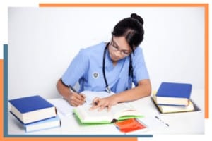 Nursing Student with her To-Do List for nursing school and career
